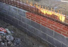 cavity filled retaining walls low