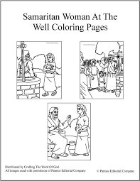 Small Picture Samaritan Woman At The Well Coloring Pages Crafting The Word Of God
