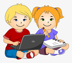 Download Laptop Clipart For Kids - Girl And Boy Writing Clipart PNG Image with No Background - PNGkey.com