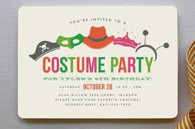 costume party invites costume party childrens birthday party invitation minted