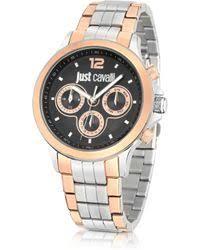 shop men s just cavalli watches from 132 lyst just cavalli just iron stainless steel men s watch lyst