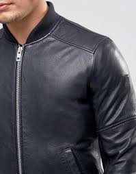 hugo boss jacent biker jacket dark brown 25705602