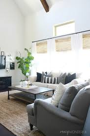 sources jute rug chairs sofa lumbar pillow coffee table similar here metal accordion table bamboo blinds white ds diy