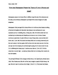 how does shakespeare present the theme of love in romeo and juliet william shakespeare acircmiddot romeo and juliet page 1