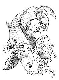 Small Picture Japanese Koi Fish Coloring Pages Download Print Online