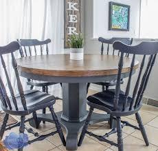 pedestal kitchen table makeover roots
