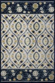 anna serafina 8723 ivory blue by kas oriental rugs