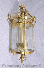 french empire brass lantern light chandelier cieling lighting