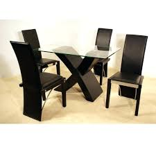 small dining table set awesome black rectangle modern gl dining table set varnished ideas hi