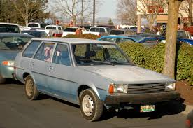 OLD PARKED CARS.: 1981 Toyota Corolla Wagon.