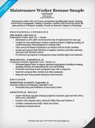 Maintenance Job Resume Objective Maintenance Job Description Resume Freeletter Findby Co