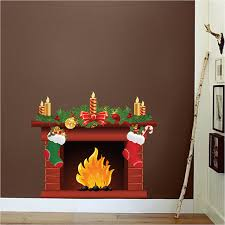 fireplace wall decal mural