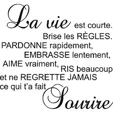 Stickers Nouveautés La Vie Est Courte Art Stick