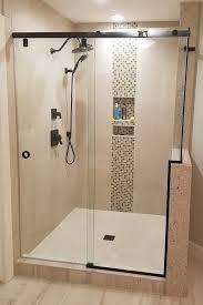 hydroslide sliding shower door slider notch knee wall