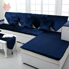 leather couch cover style royal blue velvet sofa cover flannel plush slipcovers for leather sofa warm