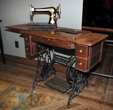 Antique Gold Sphinx Singer Sewing Machine \u0026 Cabinet Table Sewing ...