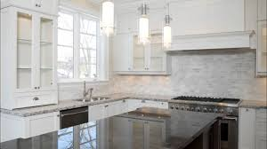 Houzz Kitchen Tile Backsplash Houzz White Herringbone Backsplash Pendant Lights Wood Island