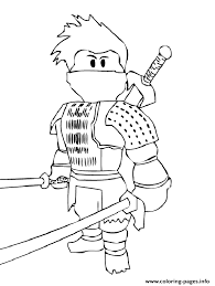 Small Picture Roblox Ninja Coloring Pages Printable