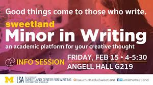 Minor In Writing Info Session Happening Michigan