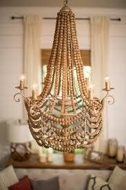 ellencott wooden bead chandelier