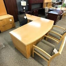 used office desks dallas left l shaped executive desk maple contemporary furniture texas 500x500