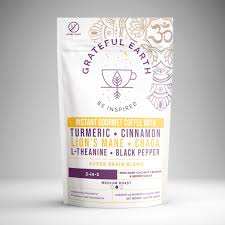 All the right ingredients in one bag clean ingredients focus powder creamer is a great alternative to half and half, chemical coffee creamers, and even other non dairy coffee creamers. 3 In 1 Super Brain Blend Instant Coffee Grateful Earth