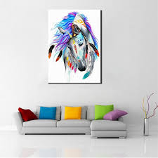 painting by numbers singapore diy paintnumber kit oil painting indian horse wall art home