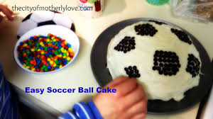 How To Decorate A Soccer Ball Cake City of Motherly Love Make Your Own Soccer Ball Cake or Tennis 69