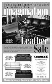 furniture sale ads. Krause\u0027s Leather Sale Newspaper Ad Furniture Ads