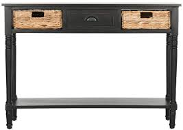 black console table with storage. CHRISTA CONSOLE TABLE WITH STORAGE AMH5737A CONSOLES. Color: Distressed Black. Save. Black Console Table With Storage