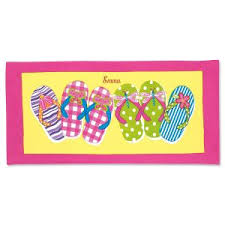 Personalized Kids Beach Towels Beach Towels for Kids Lillian Vernon