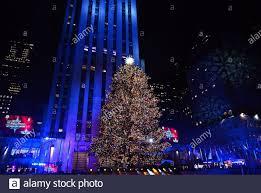 Everett Christmas Lights Rockefeller Plaza Stock Photos Rockefeller Plaza Stock