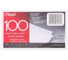 3 By 5 Index Card Mead 63350 100 Ct 3 By 5 Index Card 043100633501 2