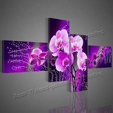 2018 wall art modern abstract acrylic flower purple orchid oil painting on canvas paintings modern pictureshome decor from watchsaler 60 31 dhgate com on purple orchid wall art with 2018 wall art modern abstract acrylic flower purple orchid oil