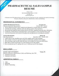 Sample Resume Pharmaceutical Sales Sales Resume Objective Sample For