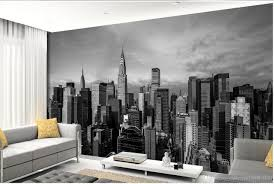 3d murals wallpaper for living room black and white new york panorama architectural photography background wall wide wallpaper for mobile wide wallpaper hd