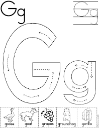 Awesome Collection of Letter G Worksheets For Preschool For Your Free