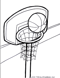 Download Coloring Pages. Basketball Coloring Page: Basketball ...