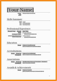 Resume Template Microsoft Word New Free Cv Templates 2007 Download