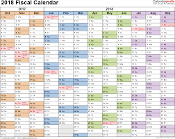 The Year Calendar Fiscal Calendars 2018 As Free Printable Pdf Templates