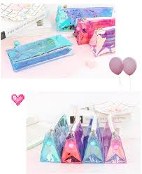 Kawaii <b>Quicksand Pencil Case Transparent</b> Laser Pencil Case Cute ...