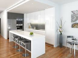 modern kitchen island. Modern White Kitchen With Island K