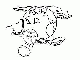 Small Picture Earth is Sick Earth Day coloring page for kids coloring pages