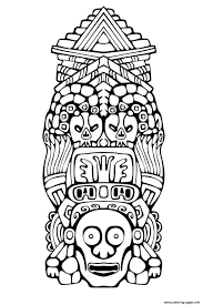 Small Picture Adult Totem Inspiration Inca Mayan Aztec 3 Coloring Pages Printable