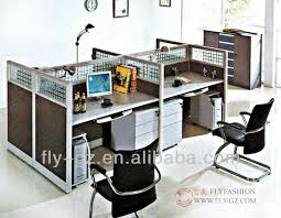modern office partition. flyfashion modern office 4 seat staff computer workstation partition desk with moving cabinet and keyboard buy people partitionfour