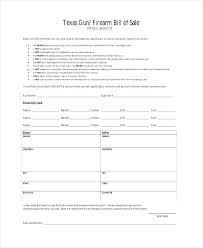 Sample Bill Of Sale Gun Firearm Bill Of Sale Sample F Free Template Jonandtracy Co