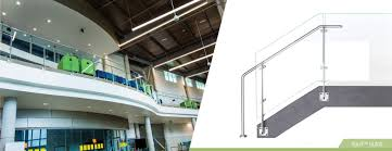 circa glass railing system hilton overhead walkway