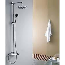 contemporary shower heads. Contemporary Shower Faucet With 8 Inch Head And Hand Heads R