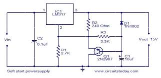 circuit diagram 15v dc power supply the wiring diagram soft start power supply circuit electronic circuits and diagram wiring diagram