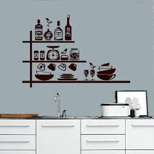 wall decals decal vinyl sticker crockery spices shelves kitchen home decor interior de on cafe wall art design with wall decals decal vinyl sticker crockery from cozydecal on etsy